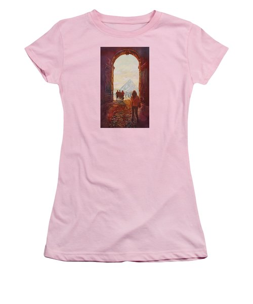 Evening At The Louvre Women's T-Shirt (Junior Cut) by Jenny Armitage