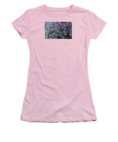 Fading Rose Women's T-Shirt (Junior Cut) by Sandy Moulder