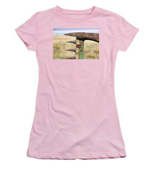 Women's T-Shirt (Junior Cut) featuring the photograph Farm Equipment 1 by Ely Arsha