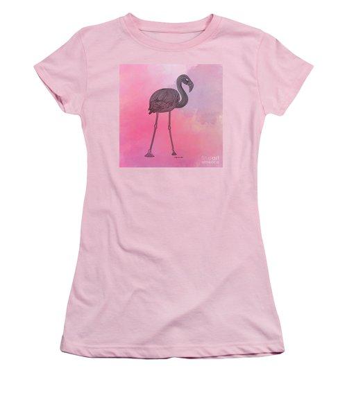 Flamingo5 Women's T-Shirt (Junior Cut) by Megan Dirsa-DuBois