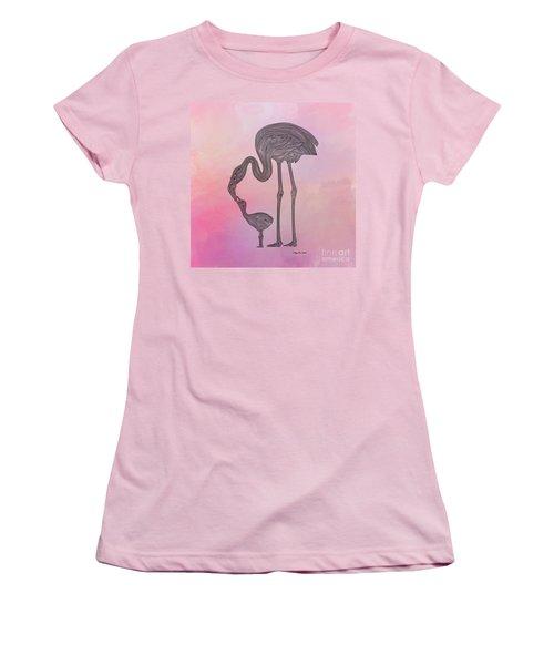 Flamingo6 Women's T-Shirt (Junior Cut) by Megan Dirsa-DuBois