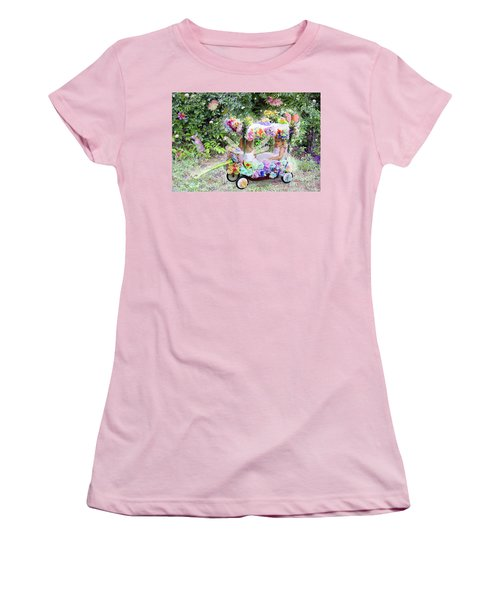 Flower Fairies In A Flower Mobile Women's T-Shirt (Athletic Fit)