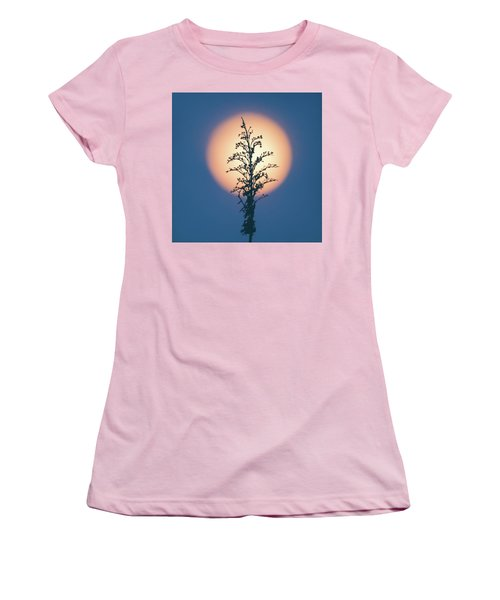 Flower Moon May 2017 Square Women's T-Shirt (Junior Cut) by Terry DeLuco