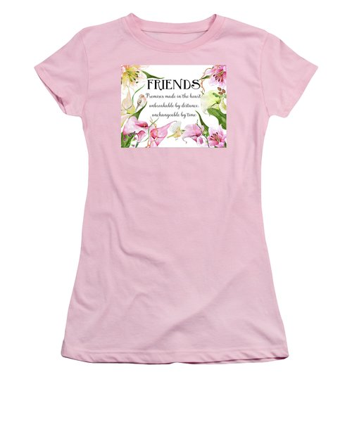 Flowers And Birds Women's T-Shirt (Athletic Fit)