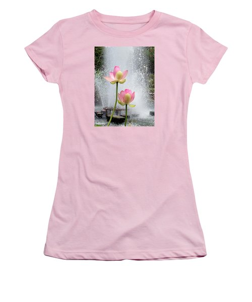 Flowers And Fountains Women's T-Shirt (Athletic Fit)