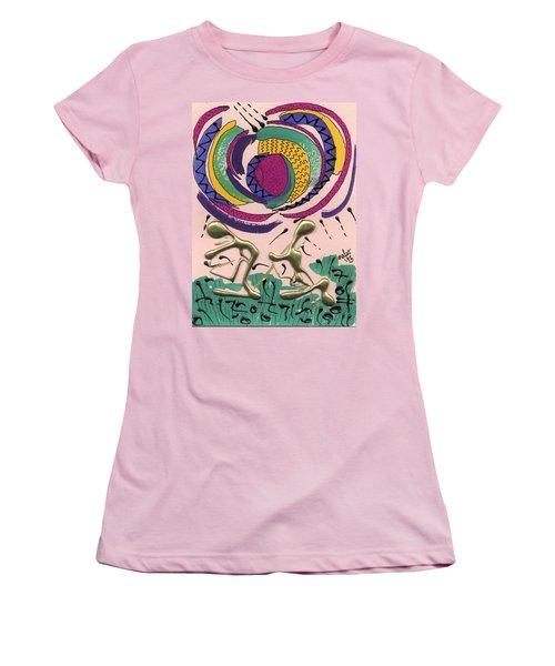 Women's T-Shirt (Junior Cut) featuring the mixed media Follow Me by Angela L Walker