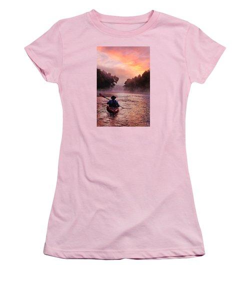 Following The Light Women's T-Shirt (Junior Cut) by Robert Charity