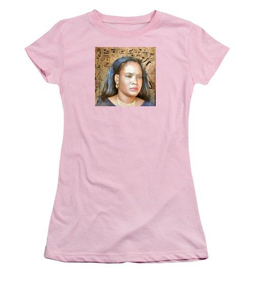 Women's T-Shirt (Junior Cut) featuring the painting For Nicole Edwards by Wayne Pascall
