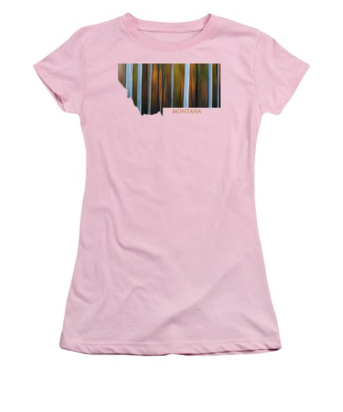 Forest Illusions-montana Women's T-Shirt (Athletic Fit)