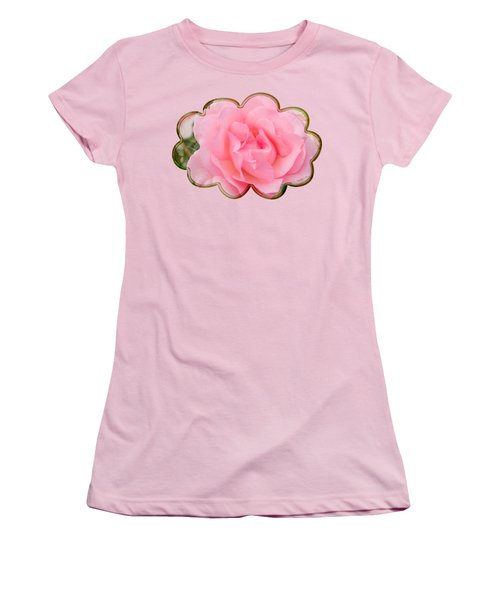 Fragrant Cloud Rose Women's T-Shirt (Junior Cut) by Jane McIlroy