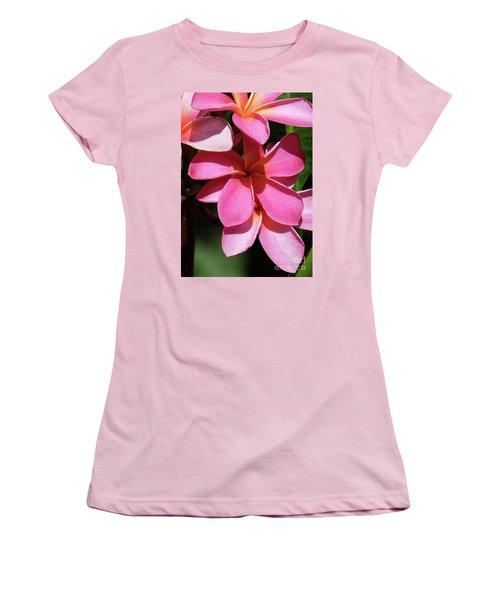Frangipani Women's T-Shirt (Junior Cut) by Mini Arora