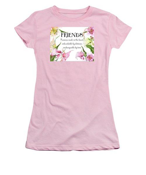 Women's T-Shirt (Junior Cut) featuring the digital art Friends by Colleen Taylor