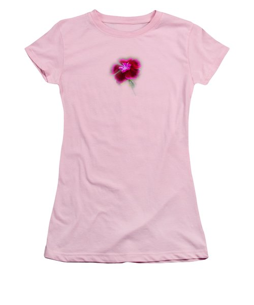 Fuchsia Pink Dianthus Tee-shirt Women's T-Shirt (Junior Cut) by Donna Brown
