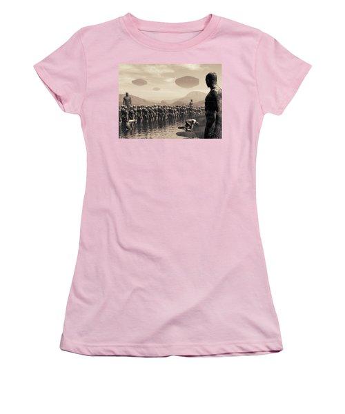 Future Cattle Women's T-Shirt (Junior Cut) by John Alexander