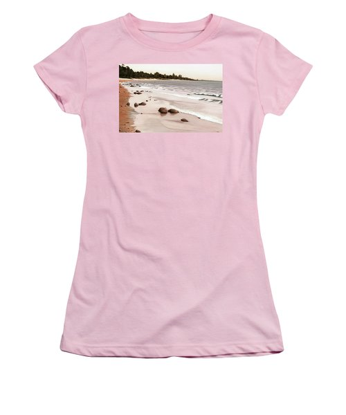 Georgian Bay Beach Women's T-Shirt (Junior Cut) by Kenneth M  Kirsch