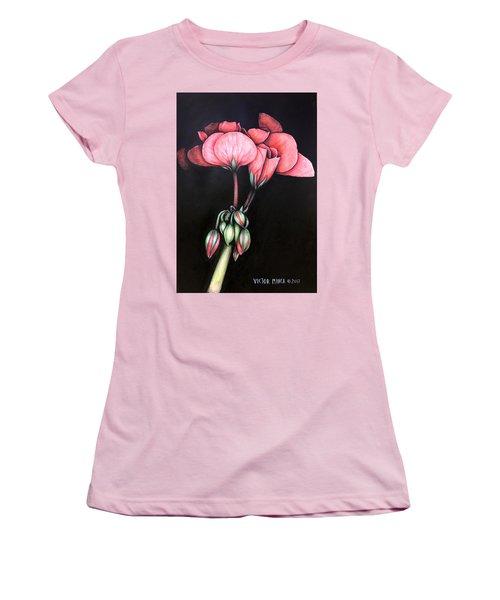 Geranium Women's T-Shirt (Athletic Fit)