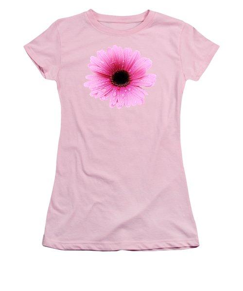 Gerbera Pink - Daisy - Up Close Women's T-Shirt (Junior Cut) by MTBobbins Photography