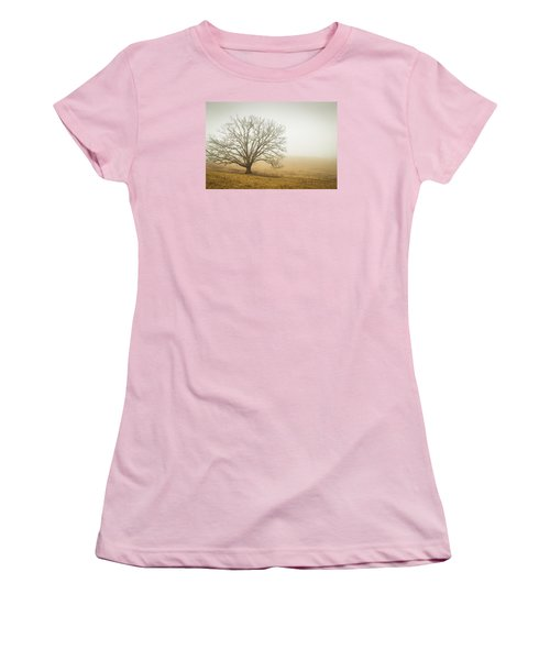 Tree In Fog - Blue Ridge Parkway Women's T-Shirt (Athletic Fit)