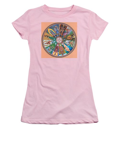 Goddess Wheel Guadalupe Women's T-Shirt (Athletic Fit)