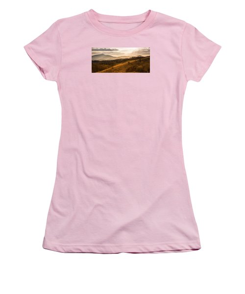Grandfather Mountain Sunset - Moses Cone Blue Ridge Parkway Women's T-Shirt (Athletic Fit)