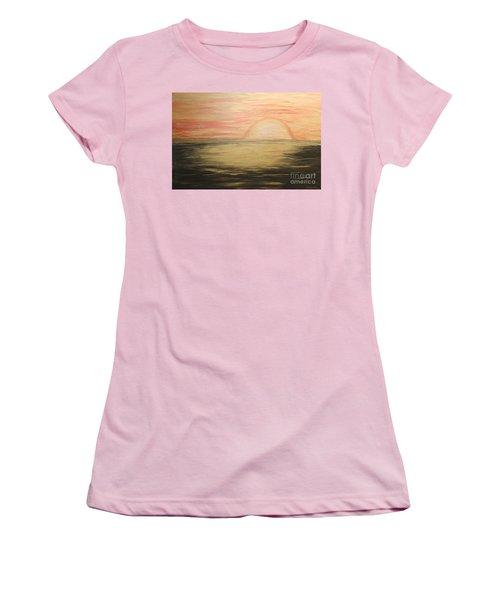 Golden Sunset Women's T-Shirt (Junior Cut) by Rachel Hannah