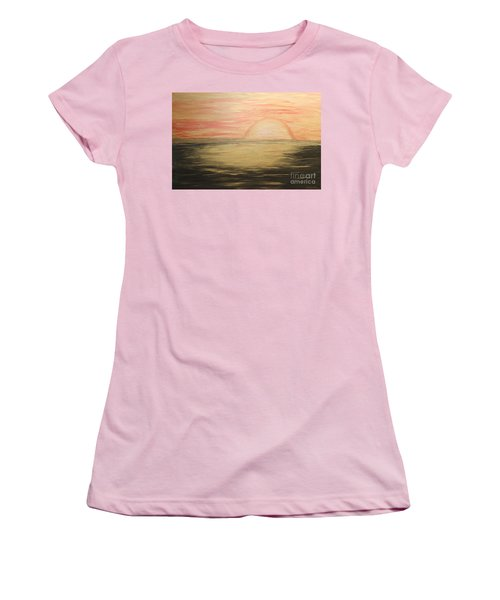 Golden Sunset Women's T-Shirt (Junior Cut)