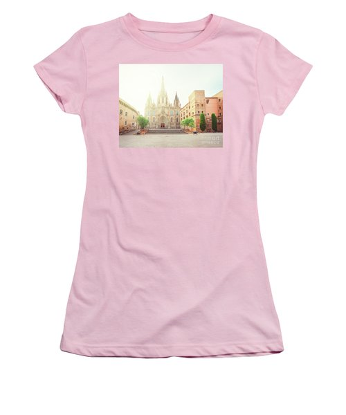 Gotic Cathedral  Of Barcelona Women's T-Shirt (Athletic Fit)