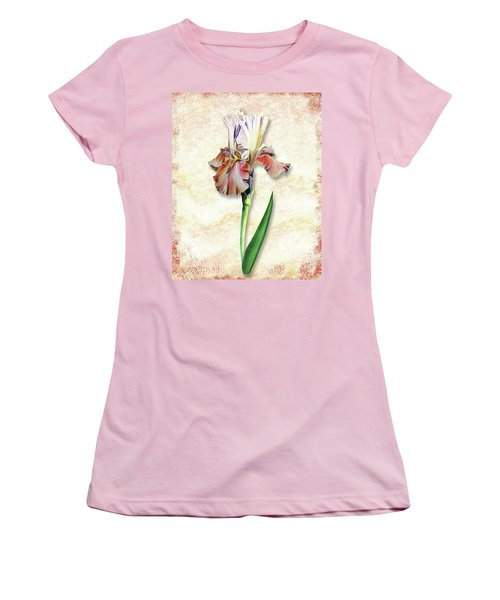Women's T-Shirt (Athletic Fit) featuring the painting Graceful Watercolor Iris by Irina Sztukowski
