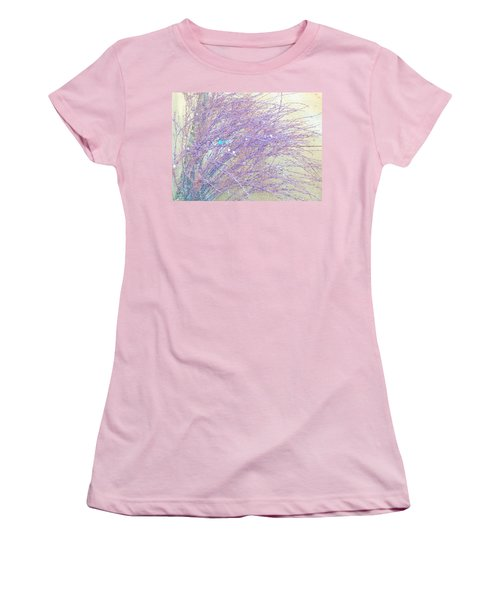 Women's T-Shirt (Junior Cut) featuring the photograph Grasses Toward The Sun by Lenore Senior