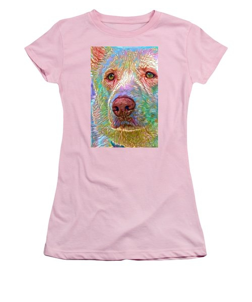 Women's T-Shirt (Junior Cut) featuring the digital art Green Eyes by Geri Glavis
