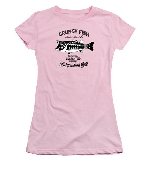 Grungy Fish Women's T-Shirt (Athletic Fit)