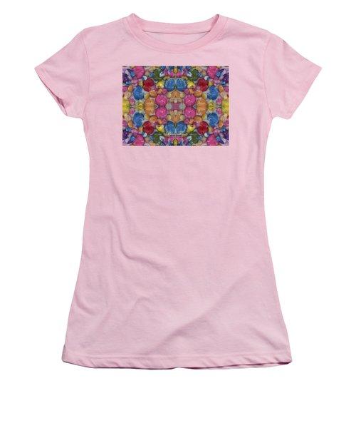 Gumballs #0000a_2 Women's T-Shirt (Junior Cut) by Barbara Tristan