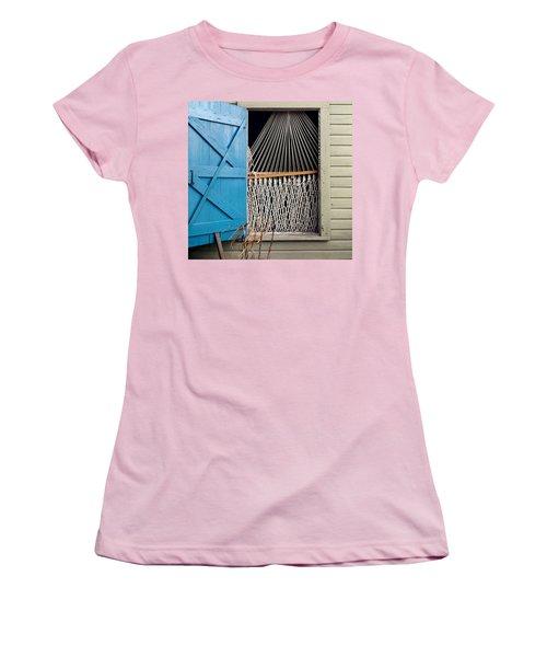 Hammock In Key West Window Women's T-Shirt (Athletic Fit)