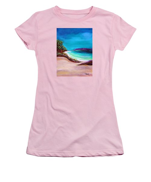 Hawaiin Blue Women's T-Shirt (Athletic Fit)