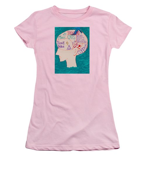 Head In Clouds Women's T-Shirt (Junior Cut) by Artists With Autism Inc