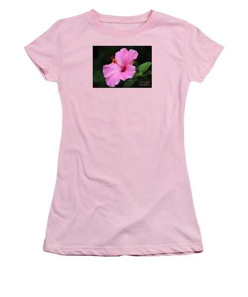 Hibiscus In Pink Women's T-Shirt (Junior Cut) by Lisa L Silva