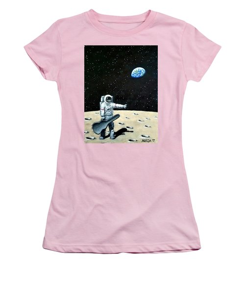 Hitchhiker With Guitar  Women's T-Shirt (Junior Cut)