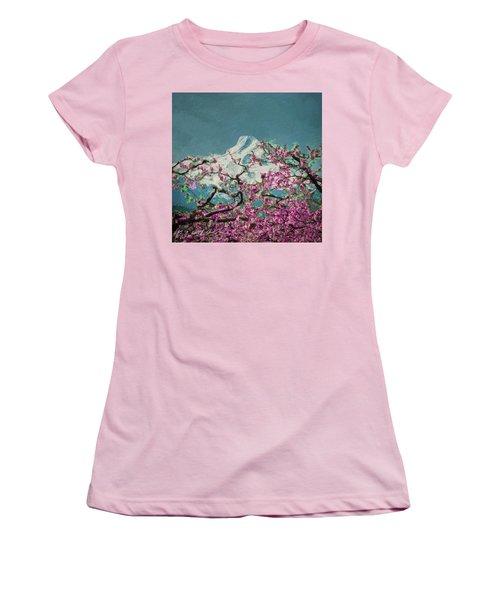 Hood Blossoms Women's T-Shirt (Junior Cut) by Dale Stillman