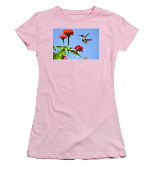 Hummingbird Happiness Women's T-Shirt (Athletic Fit)