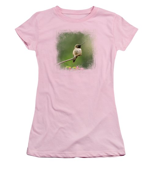 Hummingbird In The Garden Women's T-Shirt (Athletic Fit)