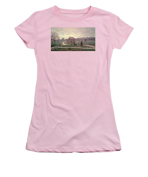 Hyde Park Women's T-Shirt (Junior Cut) by Claude Monet