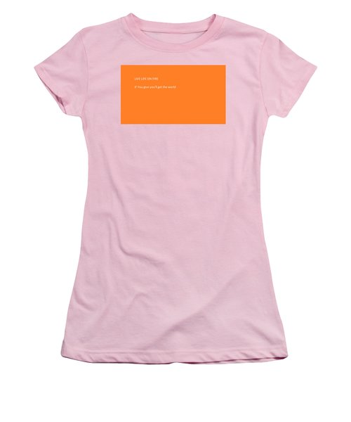 Women's T-Shirt (Athletic Fit) featuring the photograph If You  by Aaron Martens
