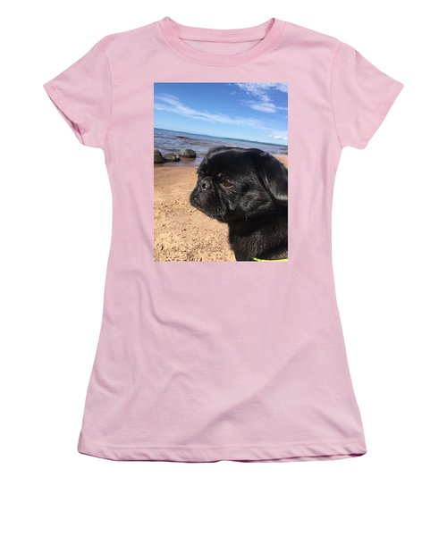 Women's T-Shirt (Junior Cut) featuring the photograph Is This My Good Side? by Paula Brown