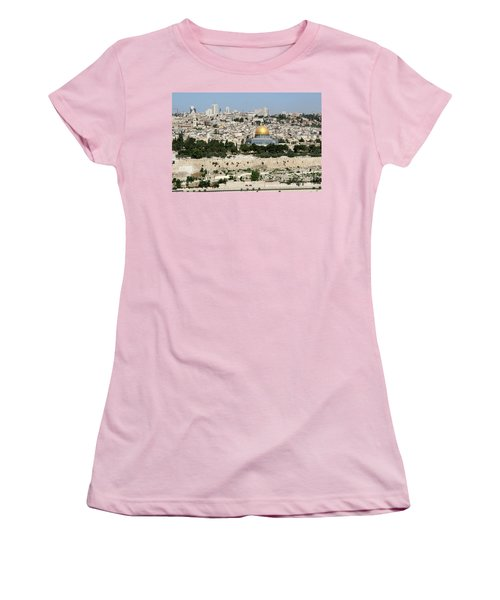 Jerusalem Skyline Women's T-Shirt (Athletic Fit)