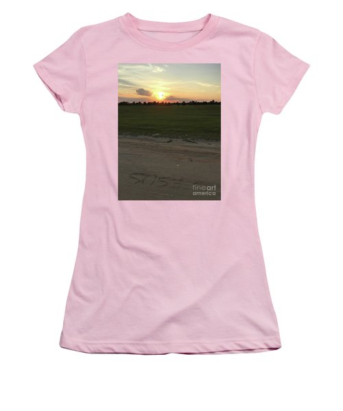 Jesus Healing Sunset Women's T-Shirt (Athletic Fit)