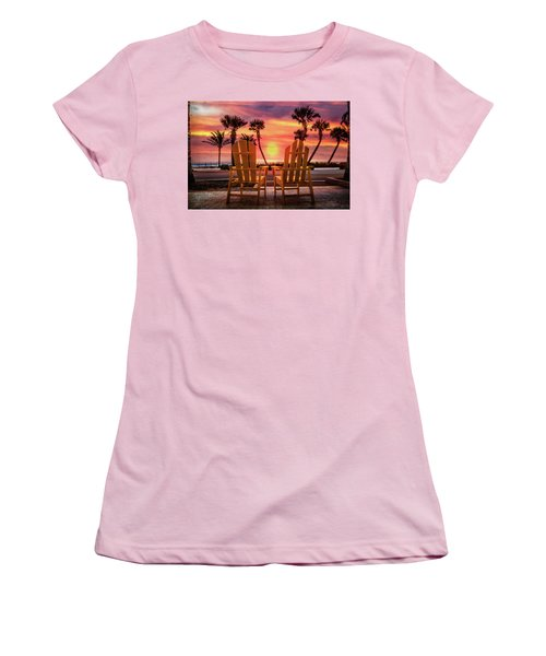 Women's T-Shirt (Junior Cut) featuring the photograph Just The Two Of Us by Debra and Dave Vanderlaan