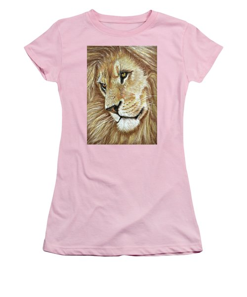 Women's T-Shirt (Junior Cut) featuring the drawing King Of The Jungle by Heidi Kriel