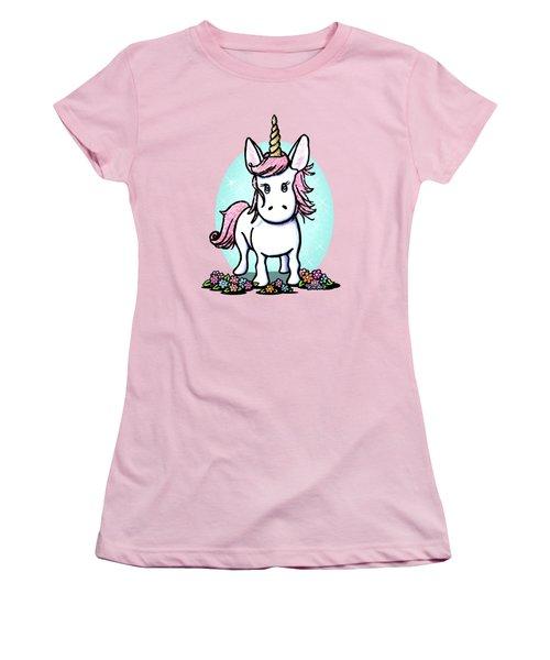Kiniart Unicorn Sparkle Women's T-Shirt (Junior Cut) by Kim Niles