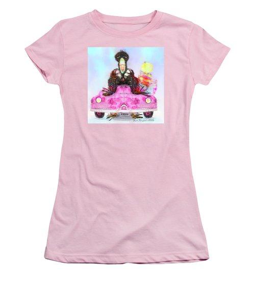 Kitty Car Crow Women's T-Shirt (Junior Cut) by Kari Nanstad