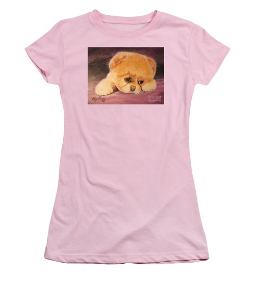 Koty The Puppy Women's T-Shirt (Junior Cut) by Sigrid Tune